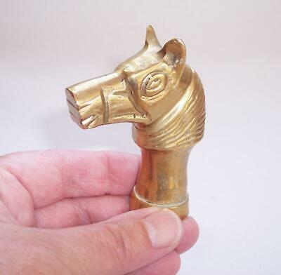 Vintage Solid BRASS Stylised HORSE HEAD Walking Stick HANDLE/Top - Equestrian