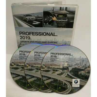 Mise A Jour Gps Bmw 2019 Professional Update Road Map Europe - 3 Dvd