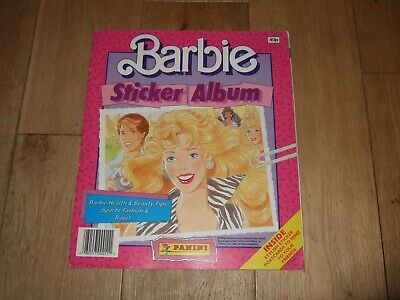 Vintage Barbie Sticker Album Panini 1989 Complete With All Stickers Rare