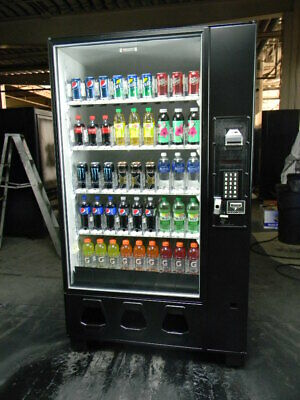 Dixie Narco 5591 Glass Front Can Bottle Soda Energy Drink Vending Machine