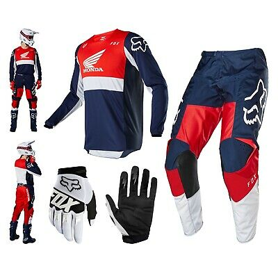 FOX 180 Honda Combo Offroad MX Enduro Hose Cross Shirt Motocross Handschuhe