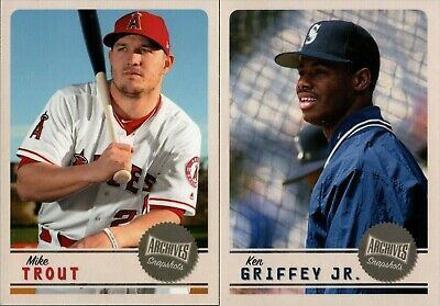 2019 Topps Archives Snapshot Base Singles With Rookie Rc - You Pick For Your Set