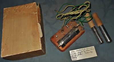 Antique  Medical  Quakery Machine  Electric Treatment for Muscular Troubles