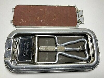 Vintage Rolls Razor Blade Sharpener In Art Deco Case Sheffield Steel England