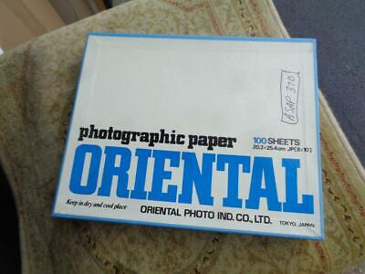 Oriental Cent F 2 Glossy 8x10 Photographic Paper Enlarging Box 100 Sheets
