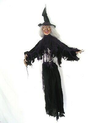 """Animated Witch Shaking Hips Scary Hanging Halloween Party Decoration 36"""""""