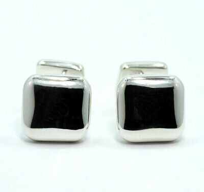 """Vintage 1999 Tiffany & Co. 13MM square cufflinks 925 sterling silver 1/2"""" .56ozt"""