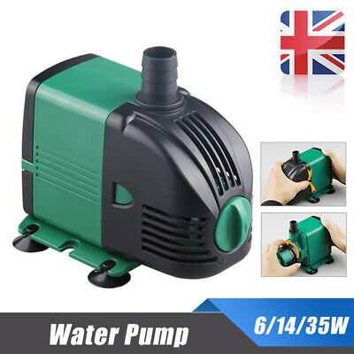 Water-Pump Feature Fountain Outdoor Garden Fish Pond Completely Submersible UK