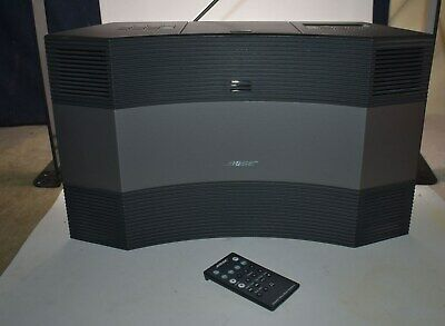 Nice! Bose Acoustic Tall Wave Music System Ii W/ Remote, Case - Am/Fm/Cd/Aux.