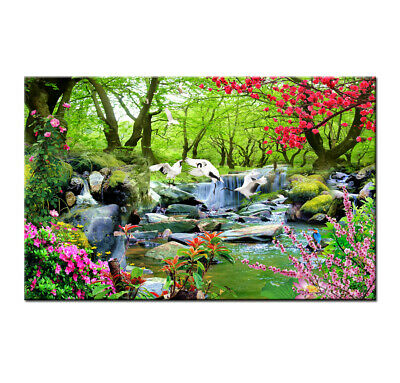 Waterfall Landscape Print Painting Canvas Wall Art Picture Living Room Home Déco