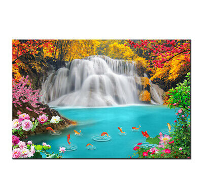 Art Wall Home Décor Waterfall Landscape Print Painting on Canvas Room HD Picture