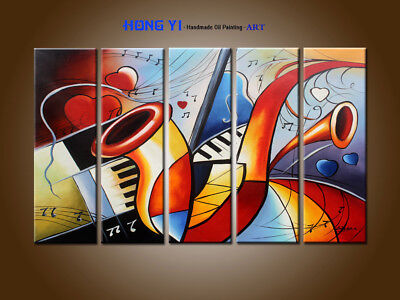 Large Modern Hand-painted Colorful Abstract OIL Painting Canvas Wall Art Framed