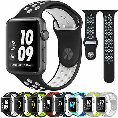 For Apple Watch iWatch Series1 2 3 4 40/42/44mm L Soft SILICONE Sport Strap Band
