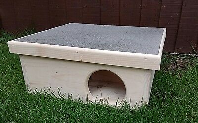 Wooden Hedgehog  Hog House And Hibernation Shelter Nesting Free Bedding.