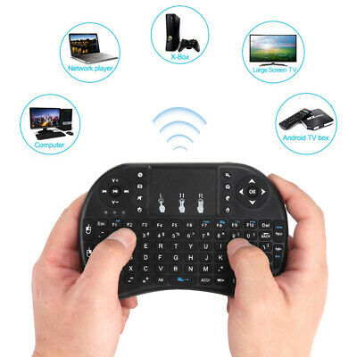 Wireless Keyboard Funk 2.4GHz Mini Tastatur Air Mouse Touchpad für TV Android