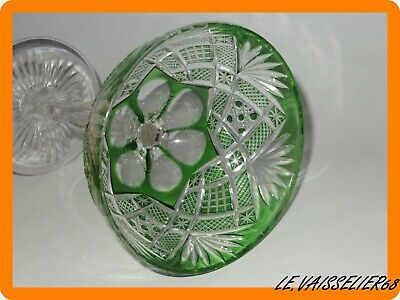 1 Ancienne Grande Coupe A Champagne Couleur Roemer Cristal Double Baccarat