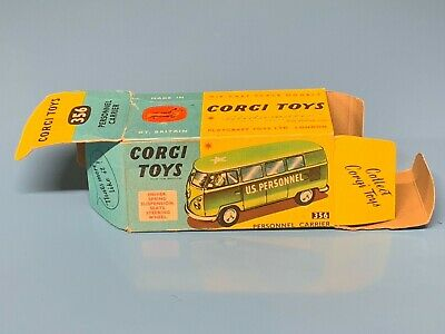 Corgi Only Empty Box N.356 Vw T1 Personnel Karrier Military