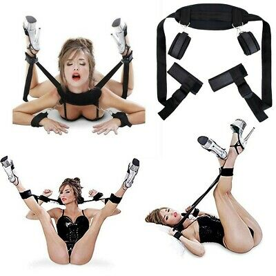 Sex Adult Fancy Toy Thigh Leg Restraint System Hand Ankle Cuff Strapes Handcuffs
