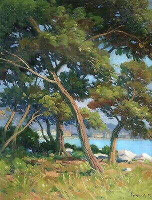 Paul Eschbach (1881-1961) Signed Fine French Impressionist Oil River Landscape