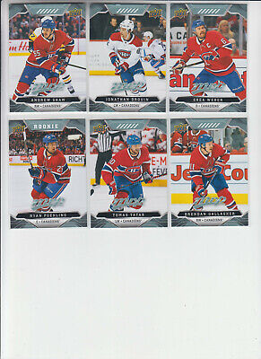 19/20 UD MVP Montreal Canadiens Team Set with RC - Price Poehling RC +