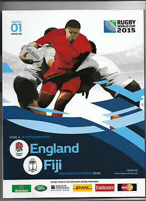 2015 IRB Rugby World Cup match 01 - ENGLAND v. FIJI (official programme)