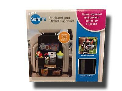 Safefit CAR Backseat & Stroller Organizer Universal Durable & Easy to Clean