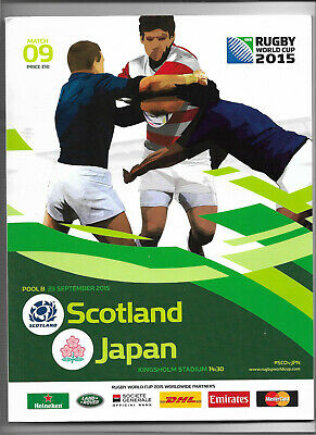 2015 IRB Rugby World Cup match 09 - SCOTLAND v. JAPAN (official programme)