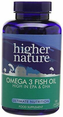 Higher Nature Fish Oil Omega 3  1000mg 180  Capsule