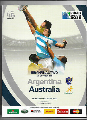 2015 IRB Rugby World Cup match 46 - ARGENTINA v. AUSTRALIA (official programme)