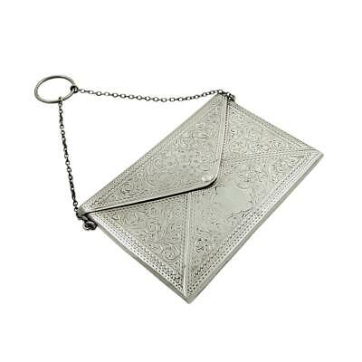 ANTIQUE STERLING SILVER CARD CASE with PILL BOX 1913