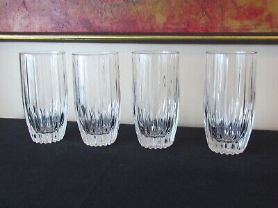 4 Mikasa Park Lane Highball Tumbler Glasses 5 5/8""