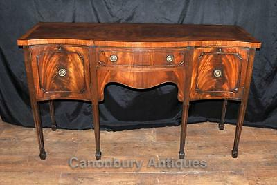 Sheraton Sideboard - Antique Server Buffet Flame Mahogany 1920s