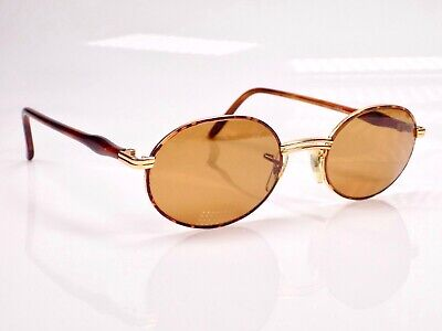 Vintage 1980's B&L Ray Ban Rituals Tortuga OVAL Metal Sunglasses & Case