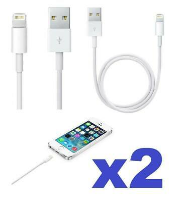 2x Cable USB Lightning compatible Apple Iphone Ipad Ipod Remplacement 5 6 7 8 X