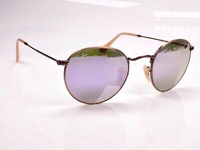 Authentic Ray Ban Round Metal Flash Lens RB3447 167/4K 50mm Sunglasses + Case