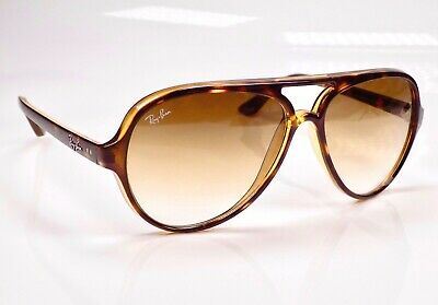 Authentic Ray Ban Cats 5000 Aviator RB4125 59mm Sunglasses + Case