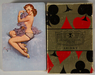 Vintage 1950s Gil Elvgren Complete B&B Boudoir Pin-Up Deck Of Playing Cards Rare