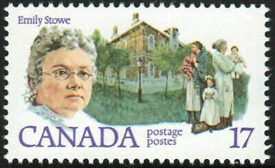 Canada sc#879i Canadian Feminist: Emily Stowe, Pink Brooch, Mint-NH