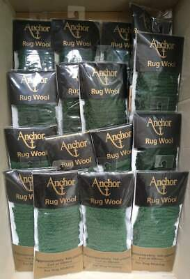 15 packs Anchor Pure Latch Hook Wool - Sage 084. 160 strands per pack 6 ply
