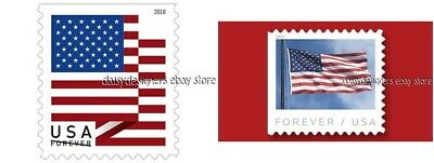 USPS 2 Rolls of 100 FOREVER STAMPS American Flag