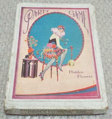 Hidden Flowers Art Deco Lady Vintage 1930s Dainty Series Party Game
