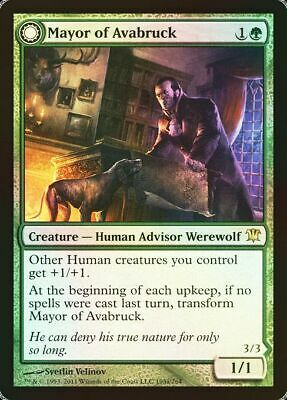 MTG MAYOR OF AVABRUCK FOIL PORTUGUESE EXC SINDACO DI AVABRUCK PROMO