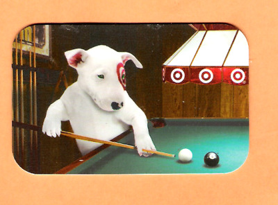 Collectible 2006 Die Cut Target Gift Card - Dog at Pool Table - No Cash Value
