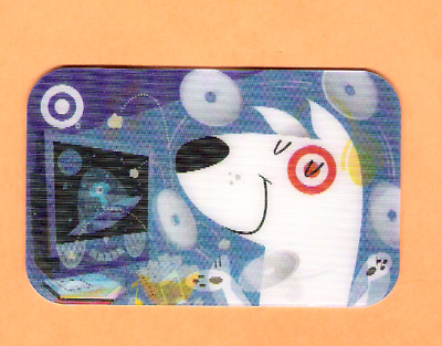 Collectible 2005 Lenticular Target Gift Card - Dog Juggling CDs  No Cash Value