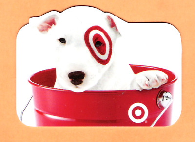 Collectible 2010 Die Cut Target Gift Card - Puppy in Bucket - No Cash Value