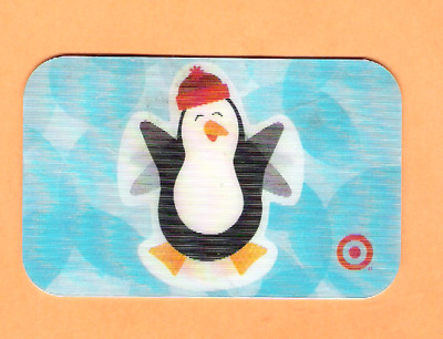 Collectible 2005 Lenticular Target Gift Card - Penguin - No Cash Value
