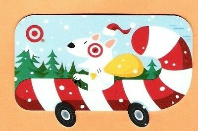 Collectible 2008 Target Gift Card - Dog in Candy Cane Car - No Cash Value