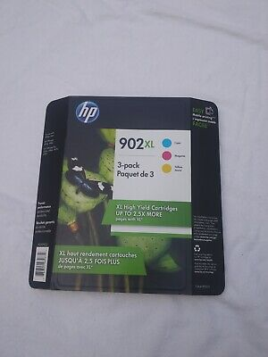 HP 902XL High Yield Ink Cartridges TRI-COLOR 3-Pack APR/2021 T0A41BN NEW
