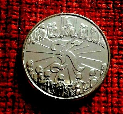 2018  A-Z  Letter K  KING ARTHUR Ten Pence Coin UNC from sealed bag