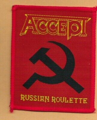 Accept Russian Roulette vintage 1980s SEW ON PATCH